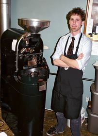 Burwell Coffee Oasis store interim manager and coffee roaster Rocky Basile