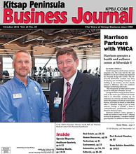 Cover Story 2410: (L-R) YMCA Executive Director Geoff Ball and Harrison Medical Center CEO, President Scott Bosch