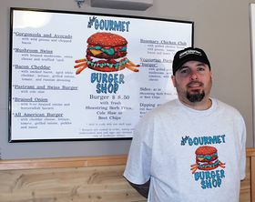 Travis Hightower, owner of The Gourmet Burger Shop