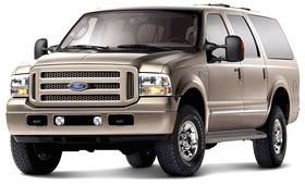 As gas prices rise, prices on large, low mileage SUVs such as the 2005 Ford Excursion shown here, are bound to drop