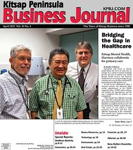 Cover Story: L to R: Dr. David Beck, KMHS Medical Director; Dr. Hector Reyes, Harrison HealthPartners; Joe Roszak, KMHS Executive Director