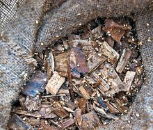 Wood chips part of micro filtration bags
