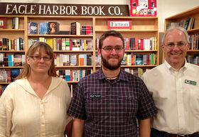 René Kirkpatrick, Tim Hunter, and Morley Horder of Eagle Harbor Book Company