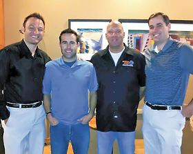 Recycle Earth partners, left to right: John Sehmel, Nathan Gray, Eric Miller and David Degarimore.