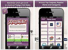 The RetailMeNot coupon app.