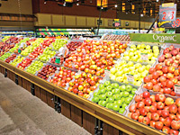 Local apple display at Wegmans Market. (Photo by Wegmans)