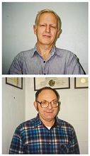 Pete DeGroot, top, and Herb Armstrong, shown in photos from 1991, are retiring and closing their ADA Engineering office that's been in Poulsbo for more than 50 years. (Courtesy Photos)