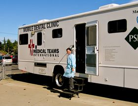 Dr. Jennifer Thornton and other care providers will be working in the dental van donated for the Day of Hope by the Washington Oral Health Foundation.