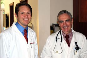 Dr. Blain Crandell, left, recently joined the family practice that Dr. Gregory Keyes has operated for 10 years on Bainbridge Island. (Photo courtesy Member Plus Family Health)