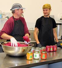 """Iggy"" Daga, left, and Sean Matteson are ready to expand their business selling fermented vegetables by at least doubling production capacity."