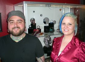 Jake Franklin and Kerry Enderton, owners of Aperture Body Arts Studio.
