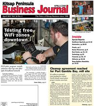 Cover Story: Rafe Anders of Poulsbo, who works in sales for T-Mobile in Seattle, uses the free WiFi connection at The Loft in downtown Poulsbo.