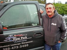 Joe Ladley, who moved to South Kitsap after retiring from his career as a veterinarian in California, started his View Park Landscaping business a few years ago
