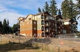 Construction is nearly complete at the Martha & Mary senior apartments in Kingston, part of the Village Green hub.