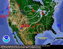 NOAA Weather Forecast Dec 19, 2012