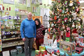 Owners Stacy and Jason Patrick gear up for the season at Pine Cone Gifts in Kingston with added inventory and a few shopping events.