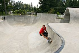 Ian Wilhelm skateboards at recently opened South Kitsap SkatePark in Port Orchard, which is proving very popular and has the potential to draw skateboarders and events from outside the area.