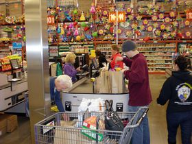 One way WinCo keeps prices low at its warehouse-style stores is by having customers bag their own groceries.