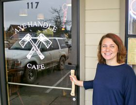 Amy Anderson is proprietor of the Axe Handle Café, which opened last summer and is her second business in Kingston. (Tim Kelly photo)