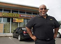 Thomas Driver is the owner of a Dickey's Barbecue Pit franchise restaurant that will open in early July in Port Orchard, and he plans to eventually open four more in Kitsap County.