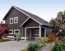 This home built for Tacoma/Pierce County Habitat Humanity was designed by Bainbridge Island architects Charlie Wenzlau and Robert Moore to meet Passive House energy-efficiency standards. (Photo courtesy Robert Moore)