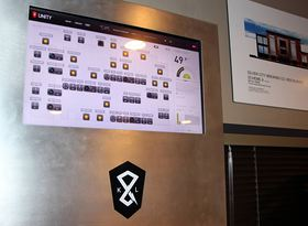 The UNITY energy management system Silver City Brewery can be controlled both from an on-site touchscreen and remotely via the internet. (Rodika Tollefson Photo)